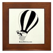 Kokopelli Hot Air Balloonist Framed Tile