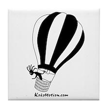 Kokopelli Hot Air Balloonist Tile Coaster