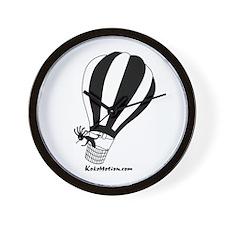 Kokopelli Hot Air Balloonist Wall Clock
