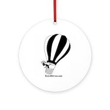 Kokopelli Hot Air Balloonist Ornament (Round)