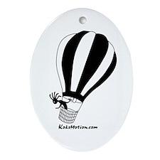 Kokopelli Hot Air Balloonist Oval Ornament