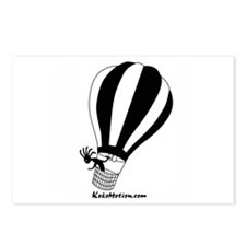 Kokopelli Hot Air Balloonist Postcards (Package of