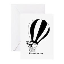 Kokopelli Hot Air Balloonist Greeting Cards (Packa