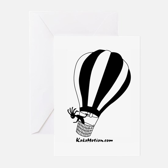 Kokopelli Hot Air Balloonist Greeting Cards (Packa