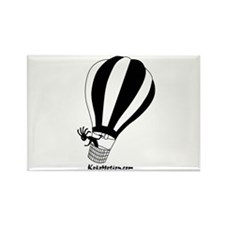 Kokopelli Hot Air Balloonist Rectangle Magnet