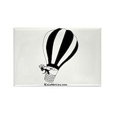 Kokopelli Hot Air Balloonist Rectangle Magnet (100