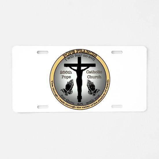 Pope Francis Aluminum License Plate