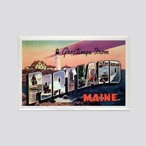 Portland Maine Greetings Rectangle Magnet