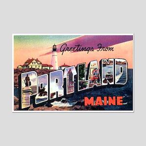 Portland Maine Greetings Mini Poster Print
