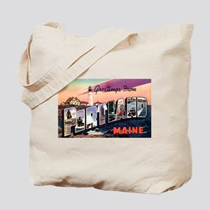 Portland Maine Greetings Tote Bag