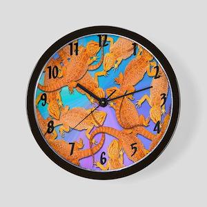 Bunches of Beardies Wall Clock