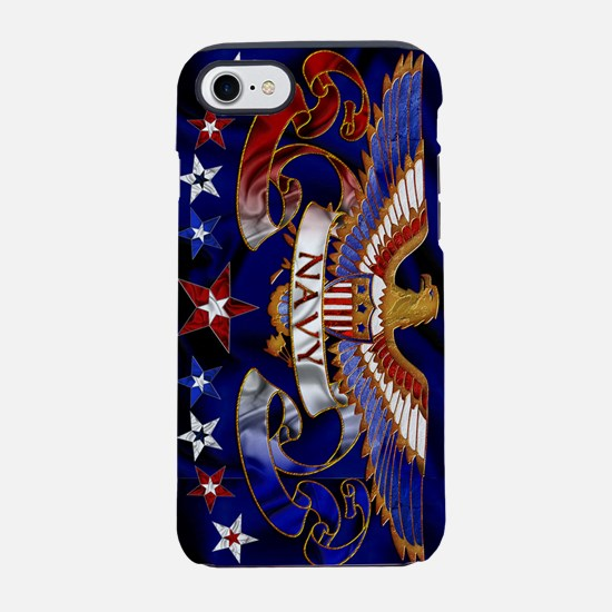 Harvest Moons Navy Eagle iPhone 7 Tough Case