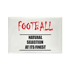 Natual Selection Football Rectangle Magnet