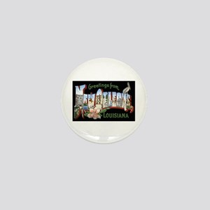 New Orleans Louisiana Greetings Mini Button