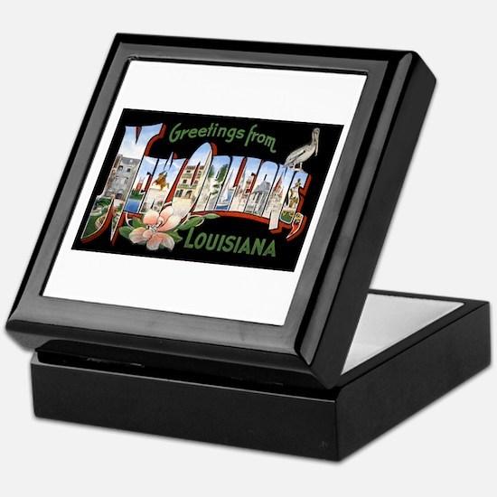 New Orleans Louisiana Greetings Keepsake Box