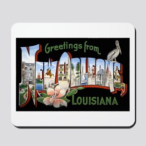 New Orleans Louisiana Greetings Mousepad