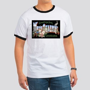 New Orleans Louisiana Greetings (Front) Ringer T