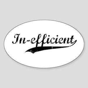 In-efficient Oval Sticker