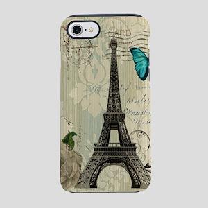 butterfly modern paris eiffel iPhone 7 Tough Case