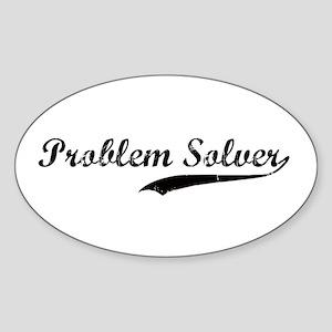 Problem Solver Oval Sticker