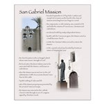San Gabriel Mission Historical Facts Poster