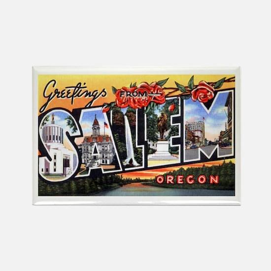 Salem Oregon Greetings Rectangle Magnet