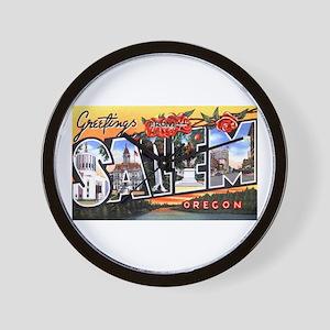 Salem Oregon Greetings Wall Clock