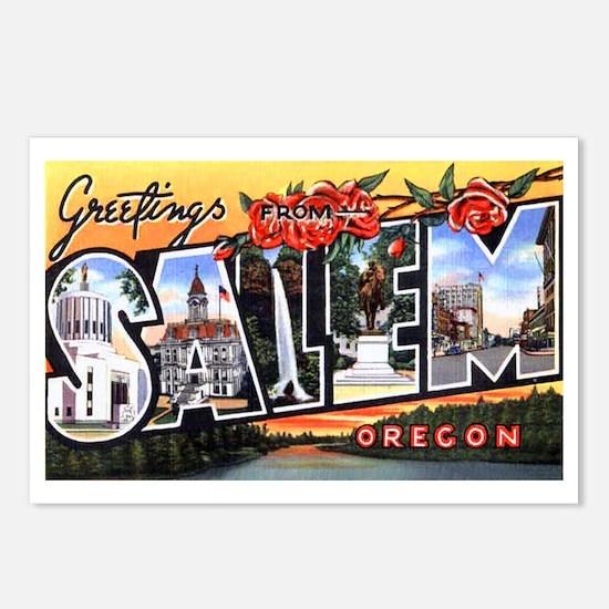 Salem Oregon Greetings Postcards (Package of 8)