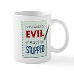 Homework Is Evil Mug