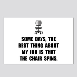 Job Chair Spins Postcards (Package of 8)