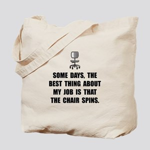 Job Chair Spins Tote Bag