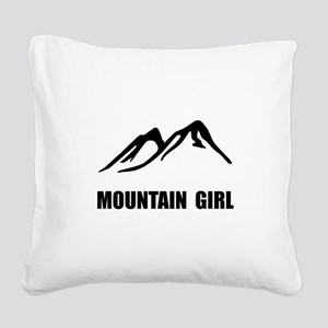 Mountain Girl Square Canvas Pillow