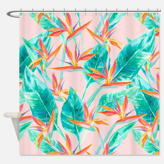 Cool Tropical birds Shower Curtain