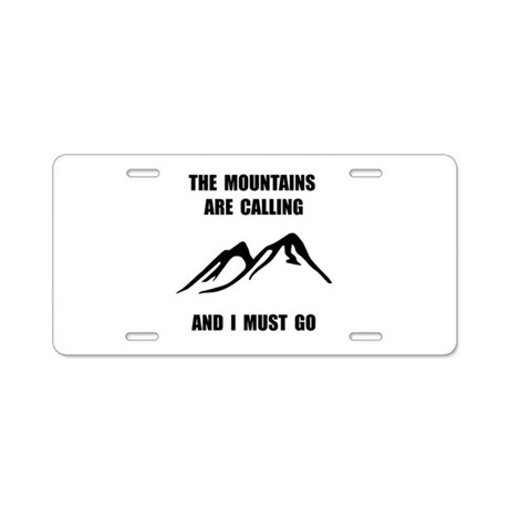 mountains must go aluminum license plate by funnyshirtsgiftsandmore