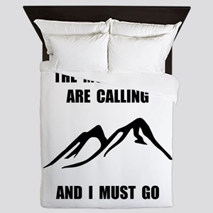 Mountains Must Go Queen Duvet