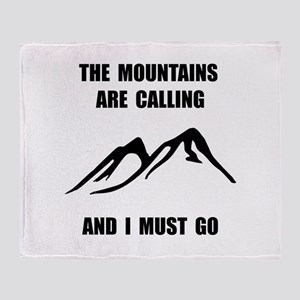 Mountains Must Go Throw Blanket