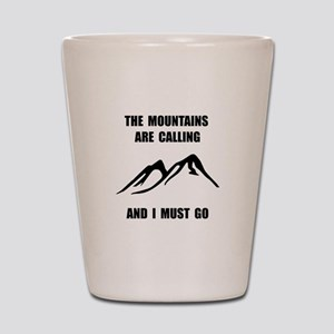 Mountains Must Go Shot Glass