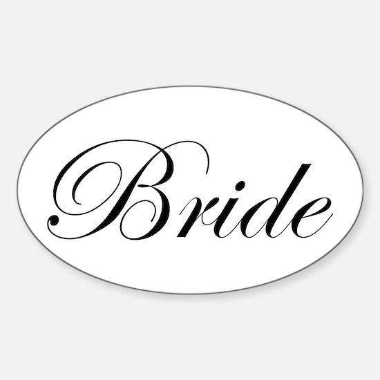 Bride's Sticker (Oval)