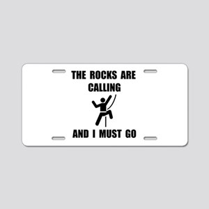 Rocks Calling Go Aluminum License Plate