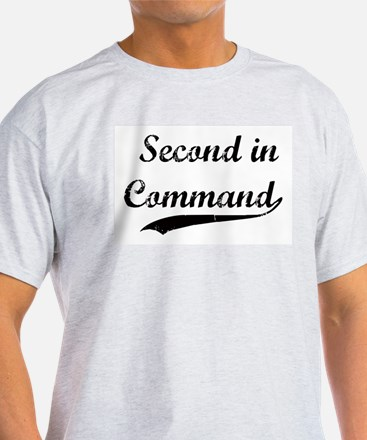 Second in Command Ash Grey T-Shirt