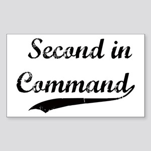 Second in Command Rectangle Sticker