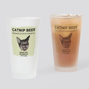 Crazy Catnip Beer light Drinking Glass