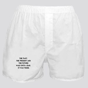 Tense Walk Into Bar Boxer Shorts