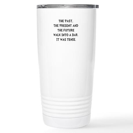 Tense Walk Into Bar Travel Mug