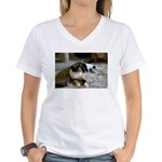 My Pet on a Women's V-Neck T-Shirt