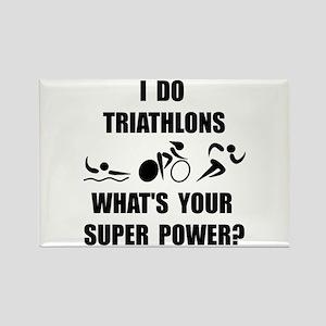 Triathlon Super Power: Rectangle Magnet (10 pack)