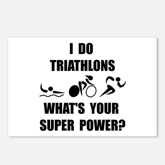 Triathlon Super Power: Postcards (Package of 8)