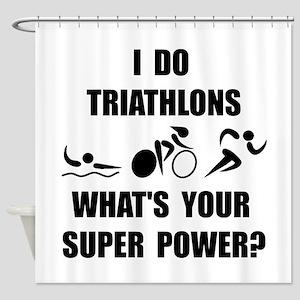 Triathlon Super Power: Shower Curtain