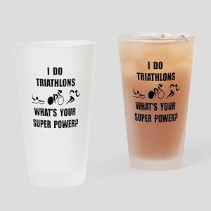 Triathlon Super Power: Drinking Glass