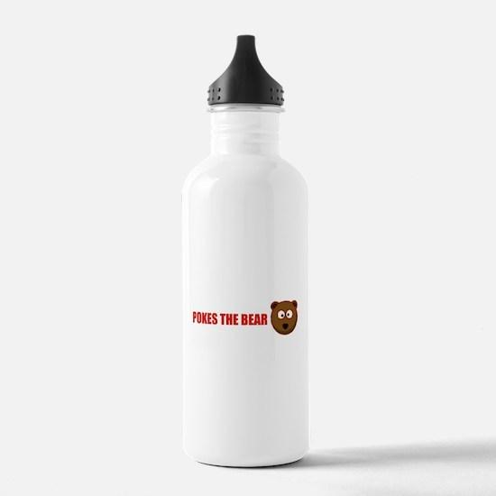 Pokes the bear Water Bottle